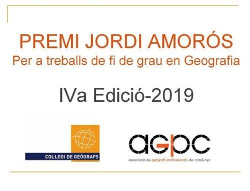 IV Edició Premi Jordi Amorós