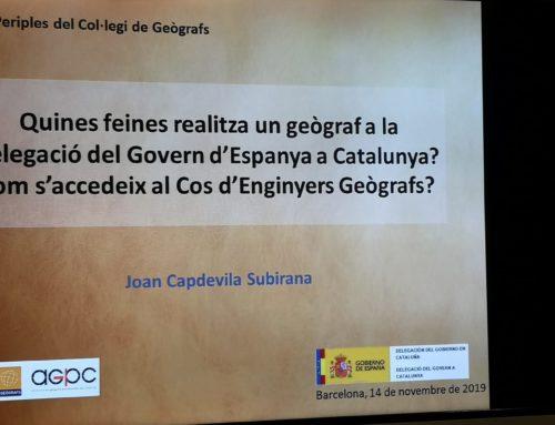 """Periple """"Quines feines realitza un geògraf a la Delegació del Govern de l'Estat a Catalunya? Com s'accedeix al Cos d'Enginyers Geògrafs?"""""""